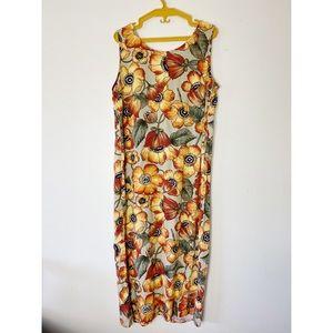 Vintage 90s Floral Dress
